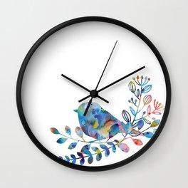 Aquarelle Kinglet Wall Clock