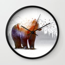 A Wilderness Within / Bear Wall Clock