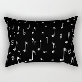 Raining Music Rectangular Pillow