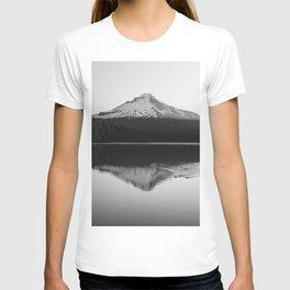 Wild Mountain Sunrise - Black and White Nature Photography T-shirt