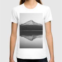 Wild Mountain Sunrise - Black and White Nature Photography T-shirt