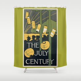 July 1895 American Century Magazine Shower Curtain