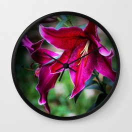 Ginnie's Asiatic Lily Wall Clock