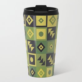Retro Geometric Floor Tile Pattern Travel Mug