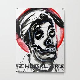 Dia De Los Muertos Con Un Poeta Revolucionario (with a revolutionary poet) Metal Print