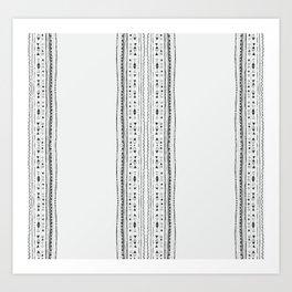 Linework Stripe, White Art Print