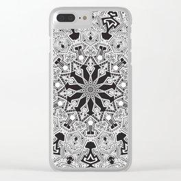 MANDALA #10 Clear iPhone Case