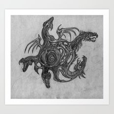 Birth of Dragons Art Print