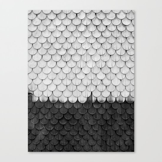 SHELTER / white and black Canvas Print