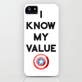 I Know My Value iPhone Case