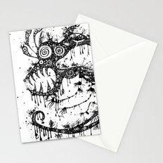 the big monster Stationery Cards