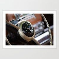 mercedes Art Prints featuring Vintage Mercedes Benz by Ed Doherty Jr