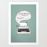 the perks of being a wallflower Art Prints featuring PERKS OF BEING A WALLFLOWER. by Sarah Brust
