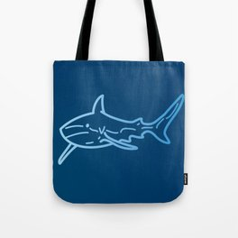 Shark wireframe Tote Bag