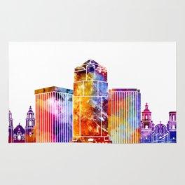 Tucson landmarks watercolor poster Rug