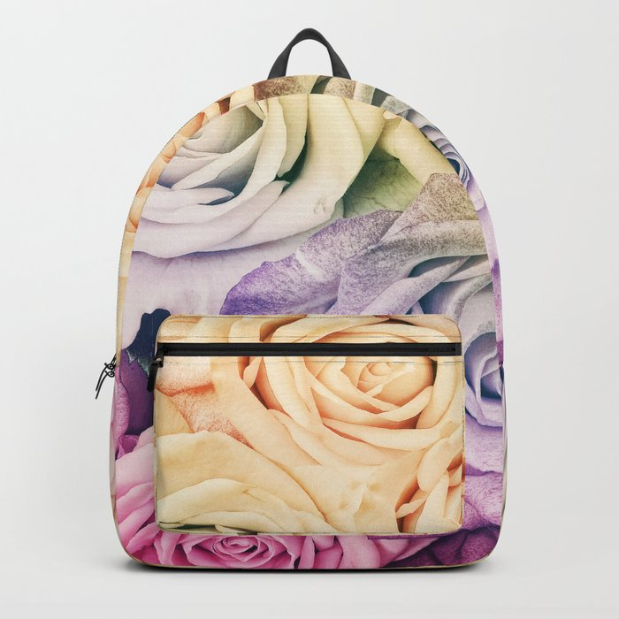 Some people grumble- Colorful Roses- Rose pattern Backpack