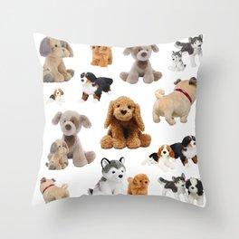 Fluffy Puppy Dog Pattern Throw Pillow