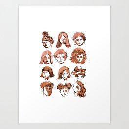 girl face Art Print