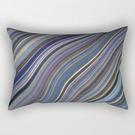 Mild Wavy Lines IV Rectangular Pillow