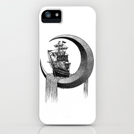 Sailing on the moon iPhone Case