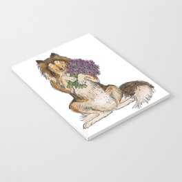 Collie with Flowers Notebook