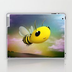 Bee Flying On Colour Sky Laptop & iPad Skin