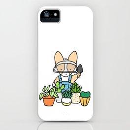 Corgi Garden Succulents iPhone Case