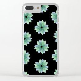 Geo Spring Flowers 04 Clear iPhone Case