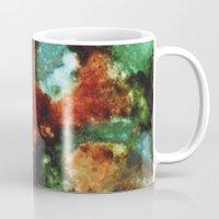 malachite Mugs featuring Geode III, Malachite by Titania Designs
