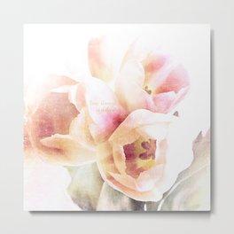 spring tulips delicate Metal Print