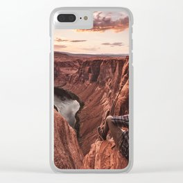 on top of the rock Clear iPhone Case