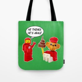 """space lego meeting the """"arale wannabe"""" monkey Tote Bag"""