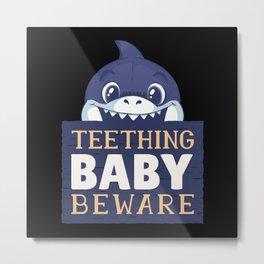 Cute Baby Shark Metal Print