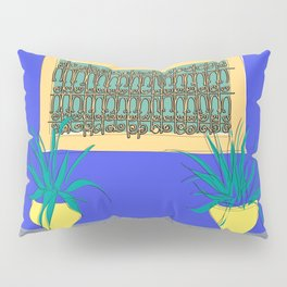Le Jardin Majorelle, Marrakech (Marrakesh), Morocco Travel Poster Pillow Sham