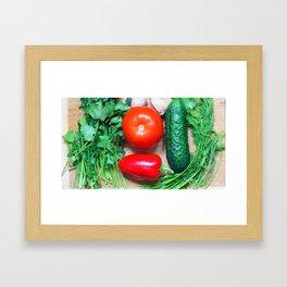 Still life with vegetables. Framed Art Print