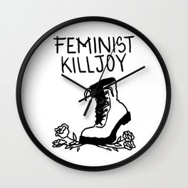 Feminist Killjoy Wall Clock