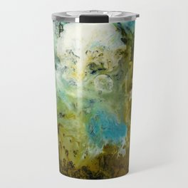 Two Worlds Abstract Colorful Art Travel Mug