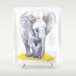Ivy's Baby Elephant Shower Curtain