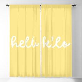 HELLO YELLOW Blackout Curtain