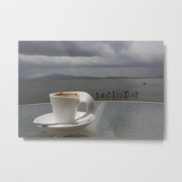 Coffee Before the Storm Metal Print