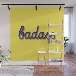 Badass - yellow version Wall Mural