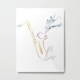 Jazzy Saxophone Metal Print