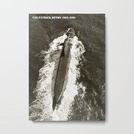 USS PATRICK HENRY (SSN-599) Metal Print