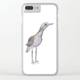 Suspicious Curlew Clear iPhone Case