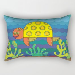 Stylize fantasy turtle under water Rectangular Pillow