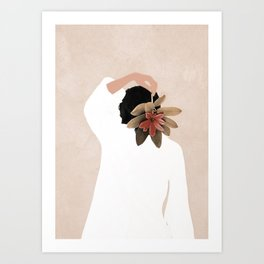 With a Flower Art Print