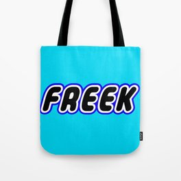 FREEK in Brick Font Logo Design [Alternate Colors] by Chillee Wilson Tote Bag