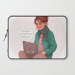 Cath writing Carry On Laptop Sleeve
