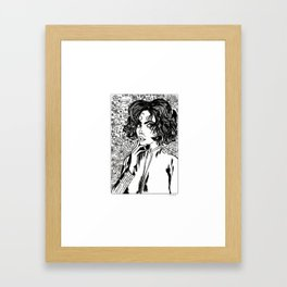 Café y cigarro. Framed Art Print