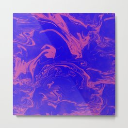 Adrift - Abstract Suminagashi Marble Series - 02 Metal Print